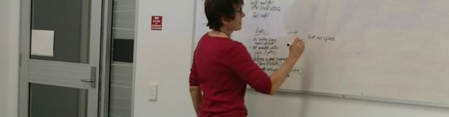 Focus group - writing on whiteboard